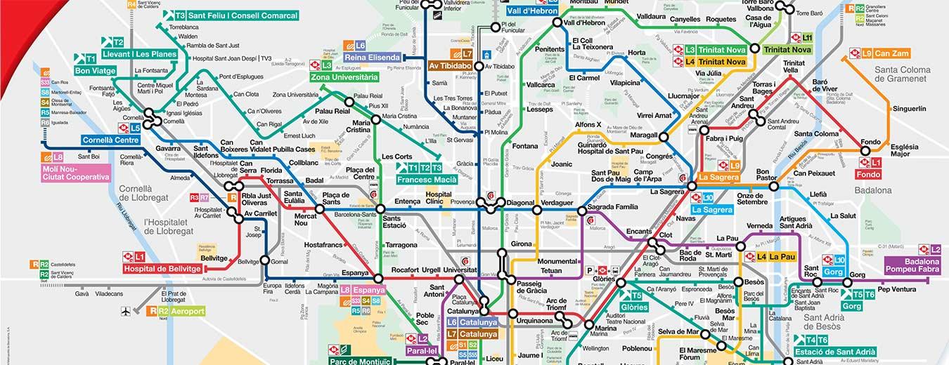 Barcelonas Metro Og Offentlig Transport I Barcelona